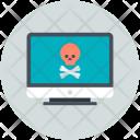 Computer Screen Danger Icon