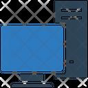Computer Monitor Cpu Icon