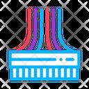 Computer Wires Color Icon