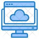 Computer Browser Cloud Icon