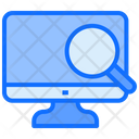 Computer Searching Monitor Icon