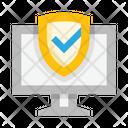 Computer Monitor Shield Icon