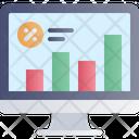 Computer Graph Analysis Icon