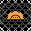 Computer Gear Graphic Icon