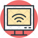 Computer Screen Wifi Icon
