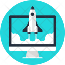 Computer Launch Rocket Icon