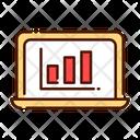 Computer Analysis Laptop Bar Chart Icon