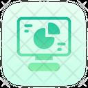 Computer Analysis Pie Chart Monitor Icon