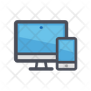 Computer and mobile phone Icon
