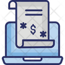 Computer Banking Electronic Submission Marketing Concept Icon