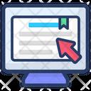 Computer Bookmark Icon
