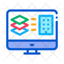 Computer Building Plan Icon