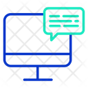 Chat Computerm Computer Chat Online Chat Icon