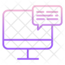 Computer Chat Icon