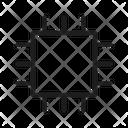 Computer Chip Core Centre Icon