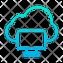 Cloud Computing Monitor Cloud Icon