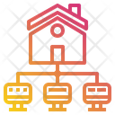 Home Monitor Networking Icon
