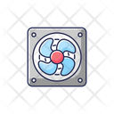 Computer Cooler Cooling Wind Icon
