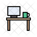 Desk Table Computer Icon