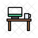 Desk Computer Table Icon