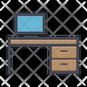 Computer Desk Computer Table Working Desk Icon