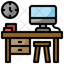 Computer Desk Working Table Office Desk Icon