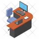 Computer Desk Computer Table Employee Table Icon