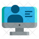 Online Learning Course Digital Icon