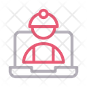 Engineer Worker Laptop Icon