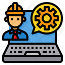 Engineer Software Worker Icon