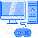 Computer Monitor Gamepad Icon