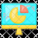 Computer Graph Pie Icon