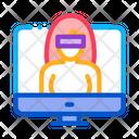 Computer Hacker Aggression Icon