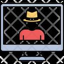 Computer Hacker Cyber Attack Cyber Crime Icon