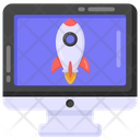 Pc Launch Computer Launch Monitor Startup Icon