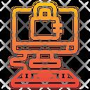 Security Computer Padlock Icon