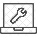Computer Setting Configuration Wrench Icon