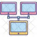 Computer Networking Data Center Interconnected Devices Icon