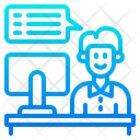 Computer Operator Chat Inbox Icon