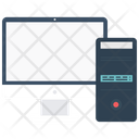 Computer Pc Tower And Monitor Icon