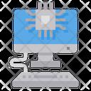 Computer Processor Chip Icon