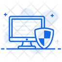 Computer Protection Cybersecurity Encryption System Icon