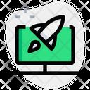 Computer Rocket Online Startup Startup Icon