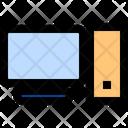 Computer Screen Wireless Signals Network Fidelit Icon