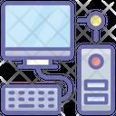 Computer Server Data Server Hosting Computer Icon