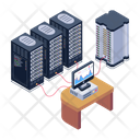 Server Display Server Room Computer Servers Icon