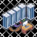 Server Display Server Room Computer Servers Icon