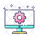 Monitor Service Maintenance Icon