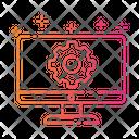 Gradient Monitor Service Icon