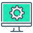 Computer Monitor Gear Icon